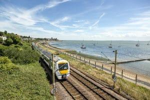 Train Travelling On Southend Coast